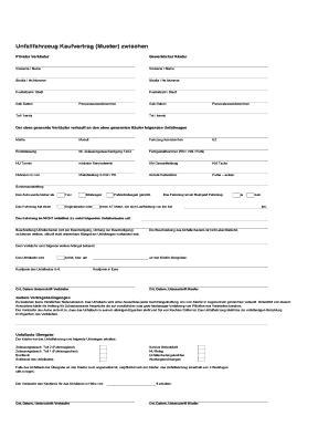 Kaufvertrag Ohne Unterschrift by Fillable Assekuranz Buero Schwab Unfallfahrzeug
