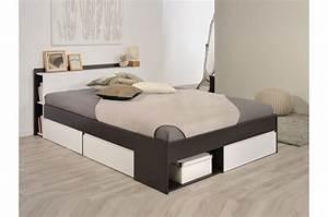 Lit Pas Cher 1 Place : lit 2 places avec rangement pas cher pour lit ~ Teatrodelosmanantiales.com Idées de Décoration