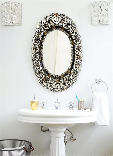 Ornate Bathroom Mirror by Gold Ornate Mirror Transitional Bathroom Coyle