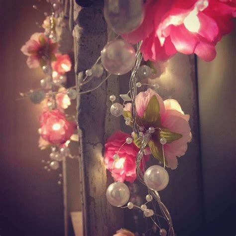 Pink Bedroom Fairy Lights New Creamy White Pink Rose