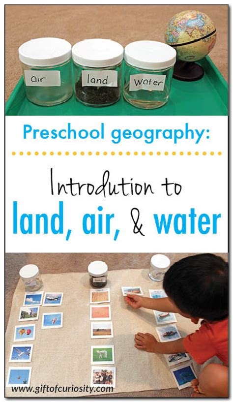 introduction to land air and water preschool geography 201 | Introduction to land air and water Gift of Curiosity