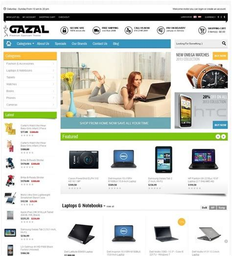 opencart templates 30 responsive high quality opencart themes and templates artatm creative magazine