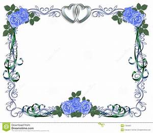 Wedding invitation blue roses border stock image image for Wedding invitation page borders free download