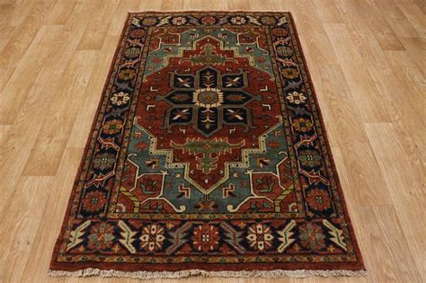 Rust Colored Rug by Light Blue Amp Rust Color 4x6 Heriz Serapi Persian Oriental