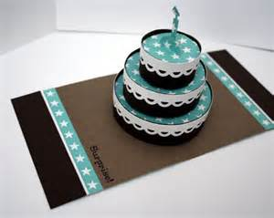 3D Pop Up Birthday Cake Card Template
