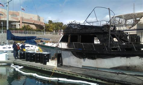 Fire Boat San Diego by Towboatus San Diego Salvages Two Boats After Fire Rips