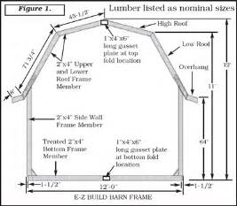 12x24 Barn Shed Plans by E Z Frame Yard Barn 12