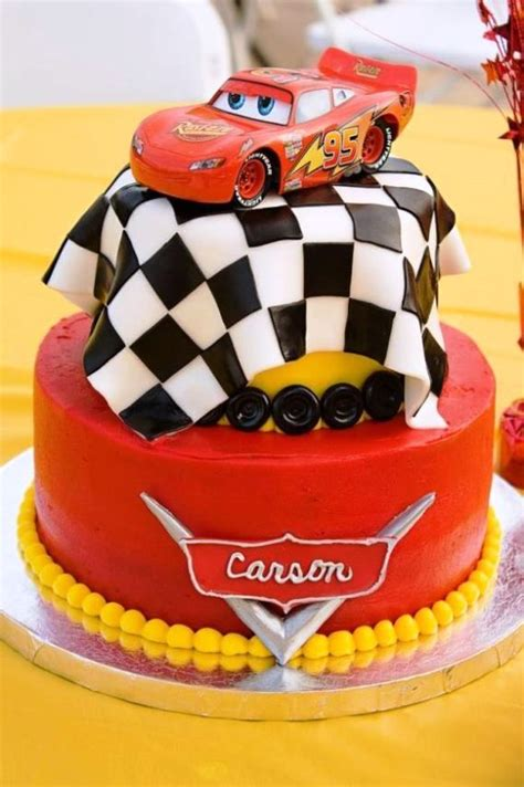 lightning mcqueen birthday cake template
