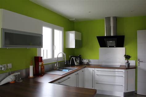cuisine peinture verte salon séjour cuisine lassy 35