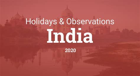 bank holiday calendar  india venture inspire