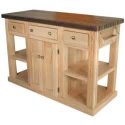 unfinished furniture kitchen island bradley brand furniture cossatot oak island unfinished 2 2