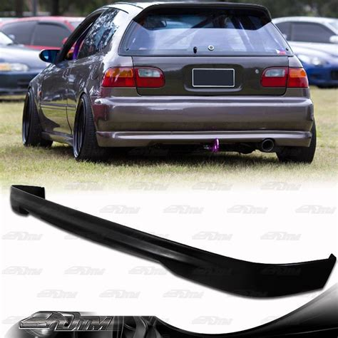 Type R Style Polyurethane Rear Bumper Lip Wing For 92-95