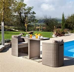 bari 3 petite table pour balcon avec fauteuils arrondis With salon de jardin pour terrasse 7 deco chambre bebe jungle