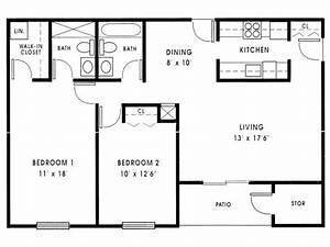 Small 2 Bedroom House Plans 1000 Sq FT Small 2 Bedroom ...