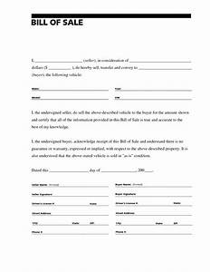 printable sample bill of sale templates form forms and With ontario will template