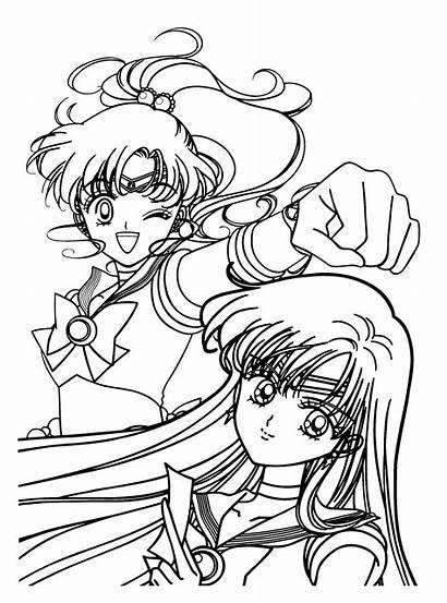 Sailor Moon Coloring Chibi Mewarnai Jupiter Ausmalbilder