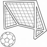 Soccer Coloring Ball Drawing Draw Goal Football Balls Drawings Clipart Template Cliparts Colouring Printable Field Library Boys Sport Clip Printables sketch template