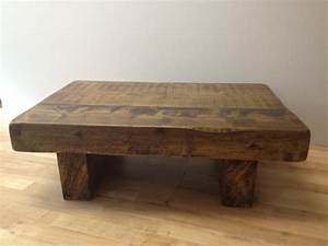 chunky reclaimed coffee tables With wood chunk coffee table