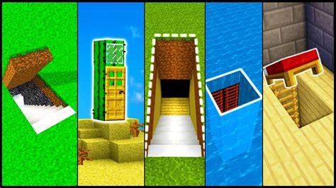 minecraft secret base entrances build hacks  ideas