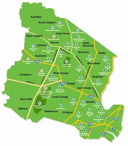 Essex Map West Golf Park Parks Course