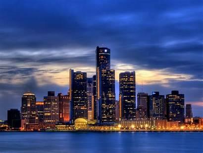 Detroit Skyline Michigan Ciudades Nicole Lights Law