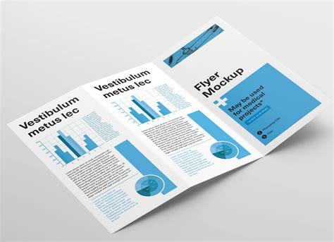 Free 4 Panel Fold Brochure Mockup Psd Mockups Free Z Fold Brochure Mockup Psd Mockups