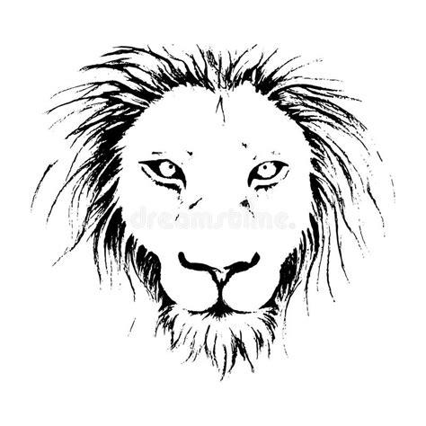 Kleurplaat Leeuwenkop by Drawing Illustration In Black And White Line