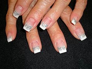 Silver Twist on the classic french - Nail Art Gallery