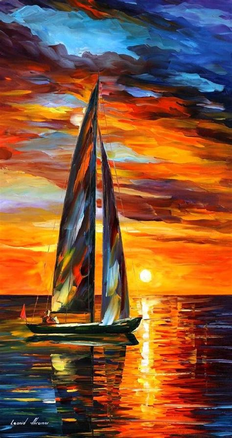 Sailing Boat Art by Sea Bathroom Decor Sailing Paintings On Canvas By Leonid