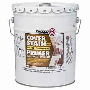 Zinsser 5 gal 100 voc cover stain oil base interior for Oil based floor stain