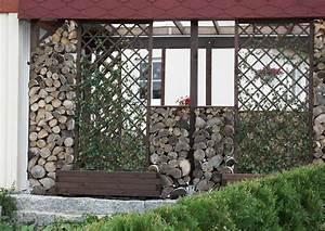 Windschutz Aus Holz : terrasse seitlicher windschutz ~ Markanthonyermac.com Haus und Dekorationen