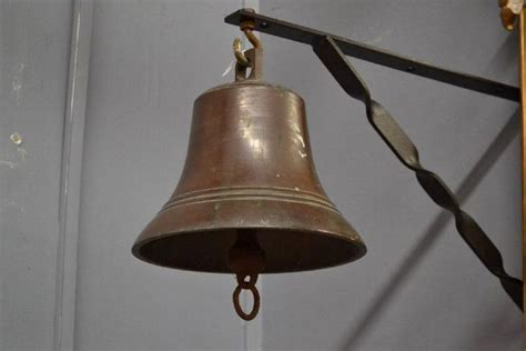 antique french bronze ships bell bronze  ormolu metalware