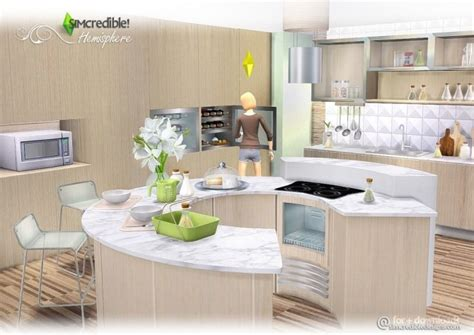 hemisphere kitchen at simcredible designs 4 sims 4 updates