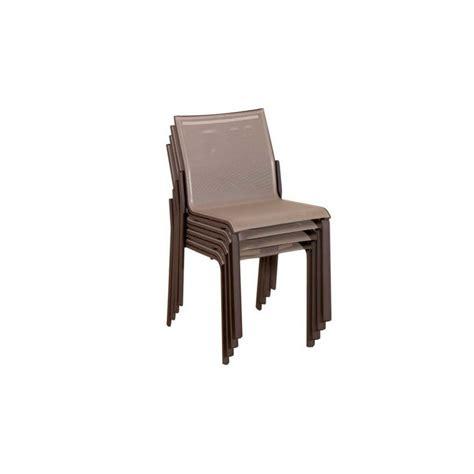chaise de jardin u chaise de jardin toile batyline et structure aluminium