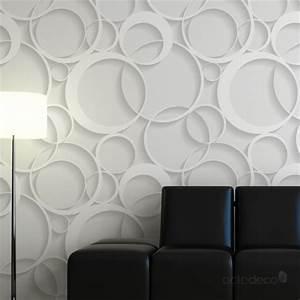 Papier Peint Blanc Relief : d coration murale effet 3d papier peint contemporain ~ Melissatoandfro.com Idées de Décoration