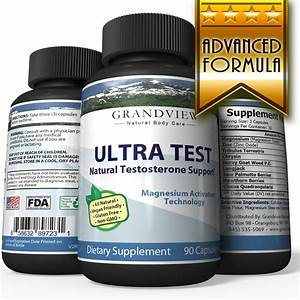 Natural Ultratest Testosterone Booster  U2013 90 Caps