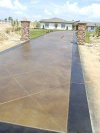 adding color to concrete staining concrete driveways adding color to your