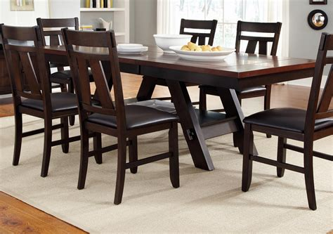liberty furniture lawson trestle rectangular dining table