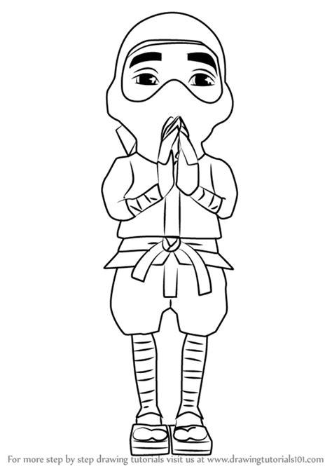 learn   draw ninja  subway surfers subway
