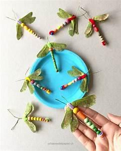 Libellen Aus Naturmaterial Basteln Im Sommer