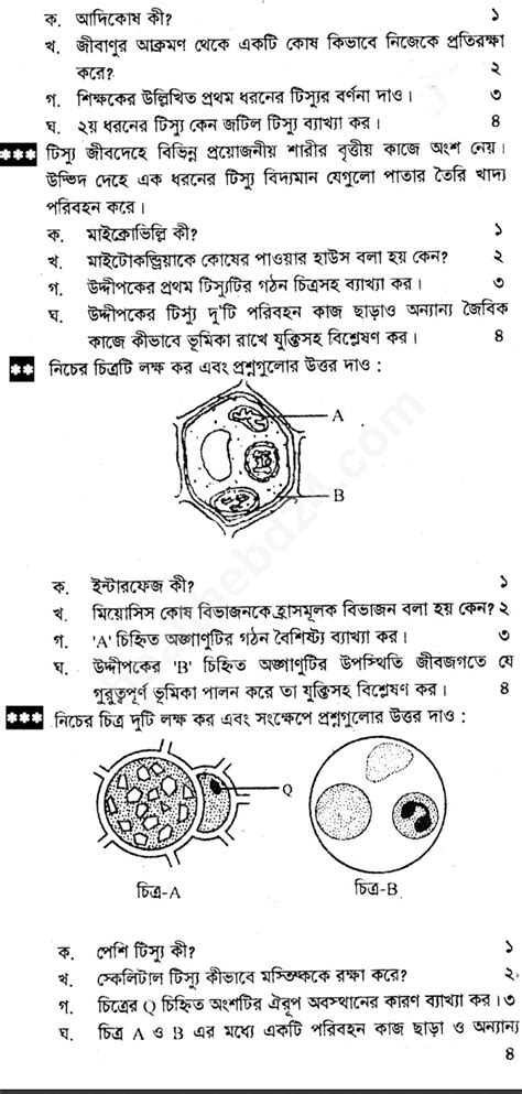 HSC Biology 1st Paper Latest Suggestion - 03
