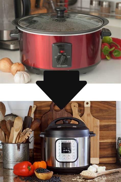 slow cooker  instant pot conversion chart