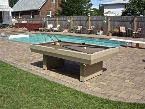 waterproof penthouse outdoor pool table contemporary