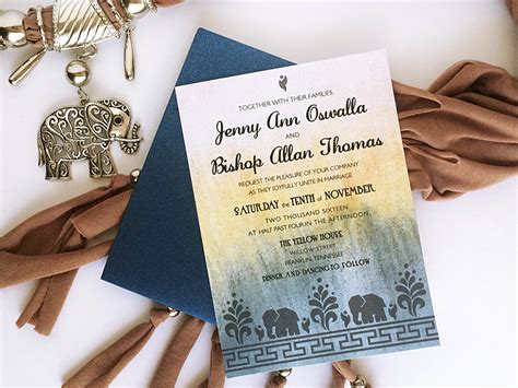 diy modern indian wedding invitation  print
