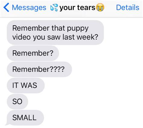 rude texts  tears  send