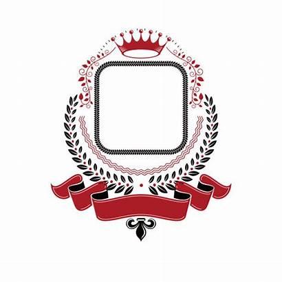Ribbon Vector Crown Laurel Imperial Wreath Emblem
