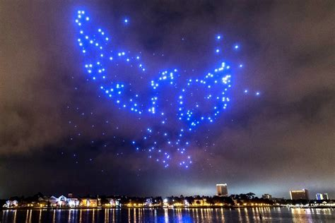 disney world light show drones to star in innovative holiday light shows at disney