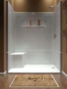 54 Acrylic Bathtub One Piece Shower Stalls With Seat One