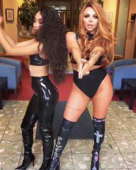 Little Mix's Jesy Nelson and Leigh Anne Pinnock go for