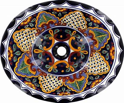 Talavera Sink Bathroom Ceramic San Drop Mexican